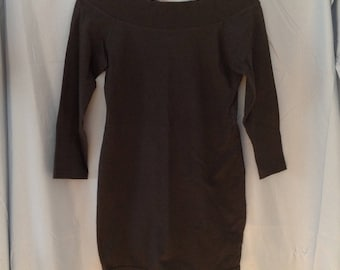 1980s / 1990s black off the shoulder bodycon minidress, size small, JAFF brand