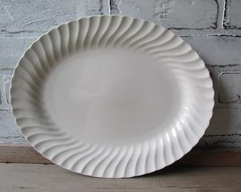 Large White Ironstone Platter Johnson Brothers Type