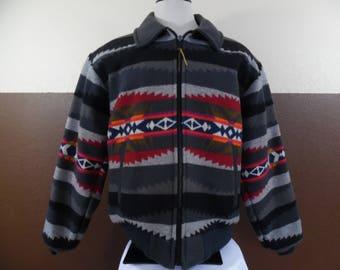 VTG PENDLETON High Grade Western Wear Wool Blanket Southwest Beacon Native Print Jacket XL