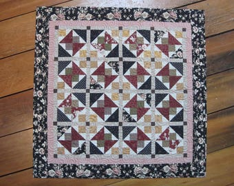Traditional Handmade Quilt for Wall Hanging or Table