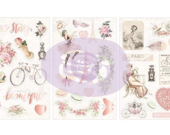 """Prima's Collection """"Love Story"""" Chipboard Stickers"""
