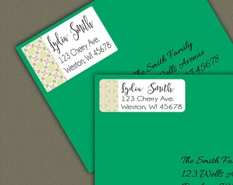 Custom Address Label Stickers, Personalized Return Address Label, Custom Label, Mailing Labels, Gift Tag, Gift Tag Stickers