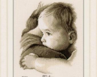 Baby Hug Cross Stitch Kit by Vervaco