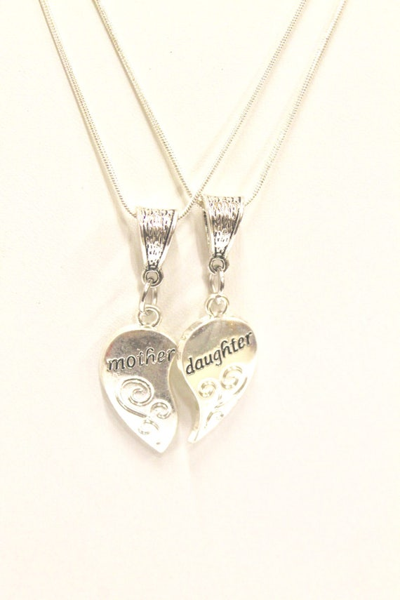 Mother and Daughter Necklace Set on Sterling Silver Chains, Mother Daughter Gift Set, Gift For Her, Daughter Gift, Mother Gift, Mothers Day