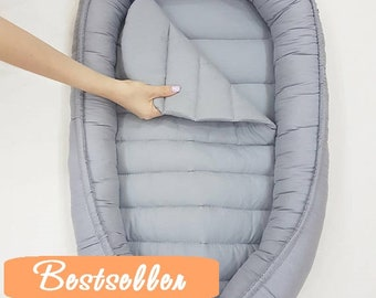 READY TO SHIP! Double-sided babynest, Baby nest, Baby lounger, Baby positoner, baby sleep nest, sleep bed, co sleeper, removable mattress