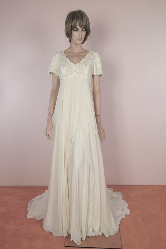 90\'s Vintage Wedding Dress Vintage Empire style Hand