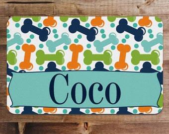Personalized Pet Food Placemat, Pet Food Mat, Dog Placemat, Cat Placemat, Gift for Dog Mom, Gift for Pet, Gift for Dog, Best Selling Item