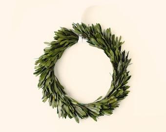 Preserved greenery wreath, Natural home decor, Preserved wreath, Platys leaf wreath, Wedding decoration, greenery leaf hoop, Olive green