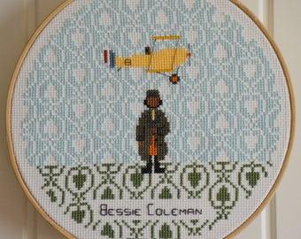 Bessie Coleman Cross Stitch Chart