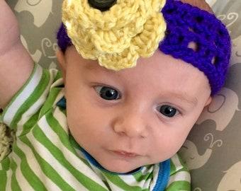 Baby headband with flower