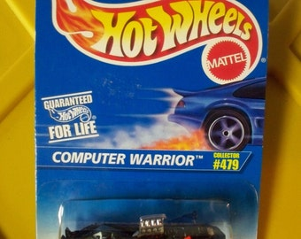 Hot Wheels Vintage 1995* COMPUTER WARRIOR Car* New On Card#479