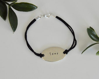 "Hemp Bracelet ""love"""