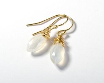 Linen Drop Earrings
