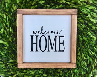 """Welcome Home 9""""x9"""" 