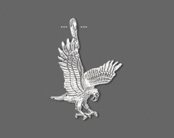 Sterling Silver Eagle Charm / pendant