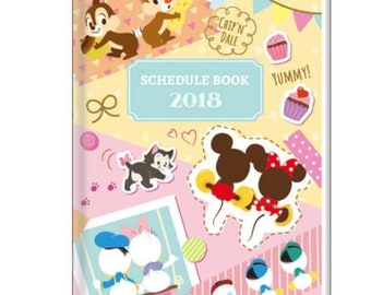 SALE Disney Mickey Minnie and Friends Schedule Book 2018 - Planner B6 L Size