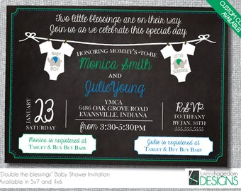 Joint baby shower etsy joint baby shower invitation custom colors digital file only filmwisefo