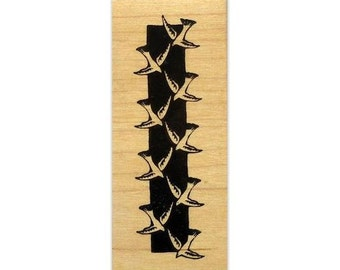 Bird Border, mounted rubber stamp, column, French Provincial style, accent stamp, Sweet Grass Stamps #9
