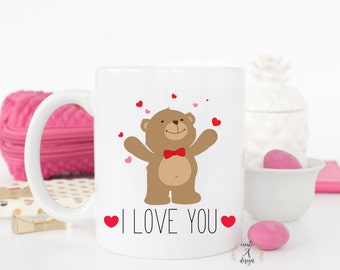 I LOVE YOU Coffee Mug - Love Mug, Mother's Day Gift, Gift for Husband, Gifts for Him, Gift for Wife, Gifts for Her