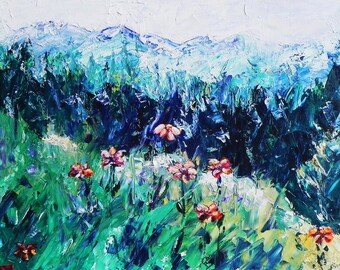 "High Mountain Meadow, Colorado. Ceramic Tile, 8"" x 10"".  Free shipping in U.S."