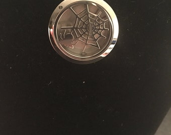 Halloween spider web perfume diffuser necklace