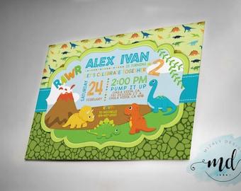 Dinosaurs Birthday Party Invitation Printable