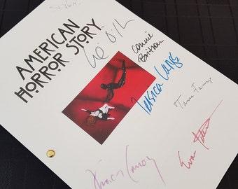 American Horror Story TV Script with Signatures / Autographs Reprint Unique Gift Present Film Movie Fan AHS Jessica Lange Screenplay