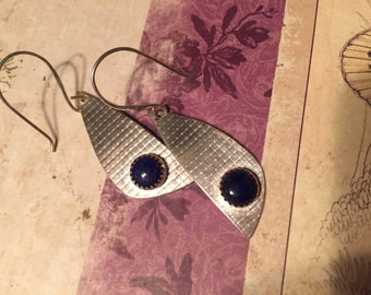 Sterling silver and blue lapis earrings
