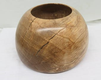 Spalted maple woodturned bowl