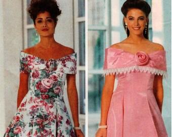 Vintage UNCUT Butterick Pattern 5908 Misses/Misses Petite Easy, Close-Fitting, Flared Dress - 6-10