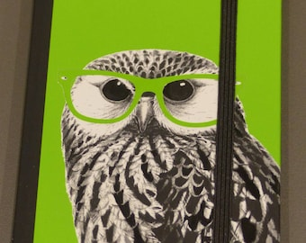 notebook pages OWL OWL green note book