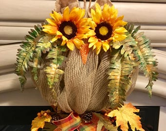 Fall wreath,Fall wreaths for front door,Fall Owl wreath,Fall burlap wreath