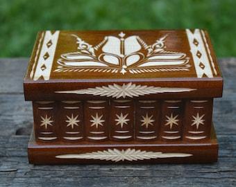 Jewelry box wood, wooden keepsake box, wedding box, jewelry storage, jewelry holder, wooden box, wood box, personalized box, memory box