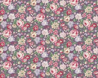 Ruru English Rose Garden  Cotton Fabric Rose ru2310-14e All over Roses