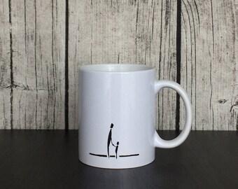 Tasse de maman, cadeau maman, mère tasse, cadeau pour maman, mère et enfant Mug, mère et fille Mug, Mug minimaliste, cadeau pour la nouvelle maman