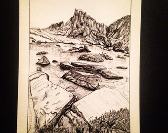 John Muir Trail  pen and ink note cards