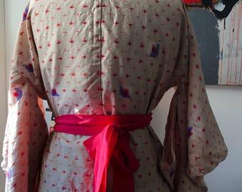 Meisen silk kimono