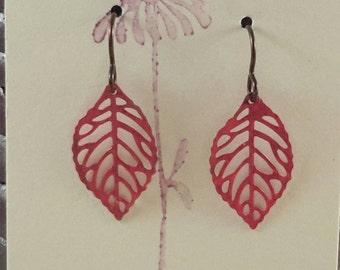 Filigree Leaf Earrings