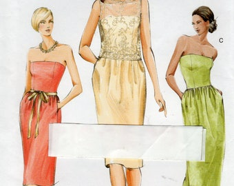 Vogue V8031 Top & Dress Pattern, Misses Petite, Sizes 18, 20, 22