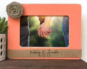 Personalized Couple Picture Frame Gift // Personalized Gift // Wedding Gift // Anniversary Gift