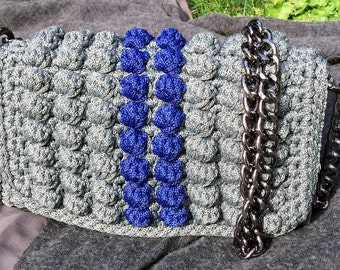 Crochet Handmade Luxury Handbag, Walnuts collection, Made in Greece, Chic Bag, Fashion Bag, Shoulder bag, Luxury bag, Designer handbags