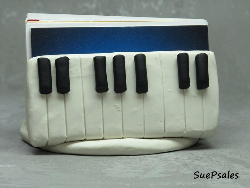Business Card Holder for Piano Teacher Music Teachers