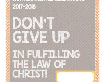 Digital Version JW Kids Assembly Activity Book Don't Give Up: In Fulfilling The Law of Christ Personal Use Only