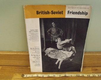 British Soviet Friendship Magazine November 1957 and Morning Star April 25th 1966