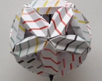 Multicolor Striped Kusudama