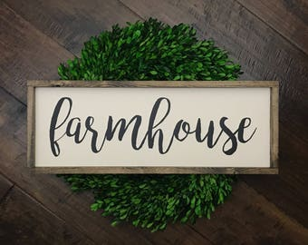 Farmhouse Sign   Wood Sign   Farmhouse Decor   Farmhouse Style   Farmhouse Home Decor   Wood Framed Sign   Wood Farmhouse Sign   Fixer Upper