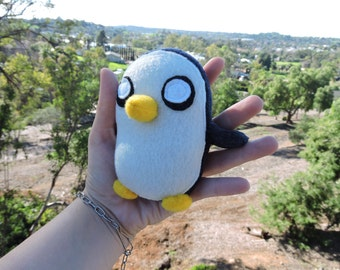 Pocket Gunter the Penguin plush toy from show Adventure Time 4.5x 2.5 inches micro mini plush Gunther the most evil thing in world