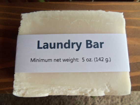 Laundry Bar, Unscented, Cold Process Soap, minimum weight:  5 oz. (142 g.)