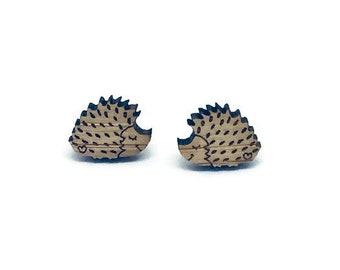 Hedgehog Earrings, Hedgehog Gifts, Hedgehog Lover, Woodland Creature Earrings