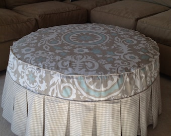 off round diy slipcover ottoman